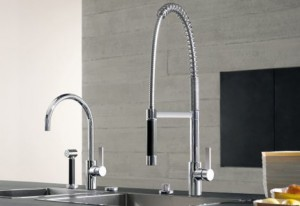How to create a pro style kitchen in your home nick for Restaurant style kitchen faucet